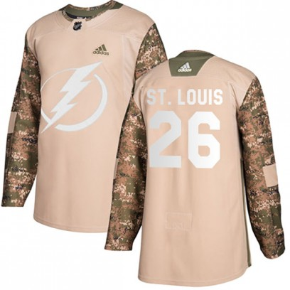 Men's Authentic Tampa Bay Lightning Martin St. Louis Adidas Veterans Day Practice Jersey - Camo