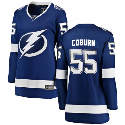 Women's Breakaway Tampa Bay Lightning Braydon Coburn Fanatics Branded Home Jersey - Blue