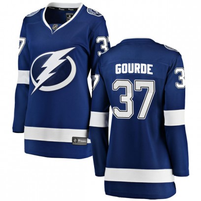 Women's Breakaway Tampa Bay Lightning Yanni Gourde Fanatics Branded Home Jersey - Blue