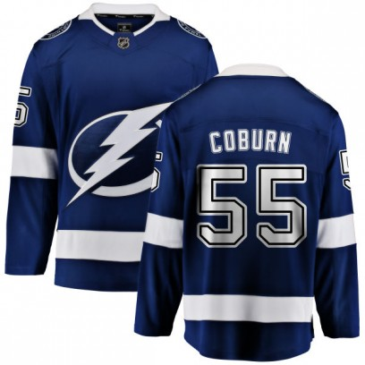 Men's Breakaway Tampa Bay Lightning Braydon Coburn Fanatics Branded Home Jersey - Blue