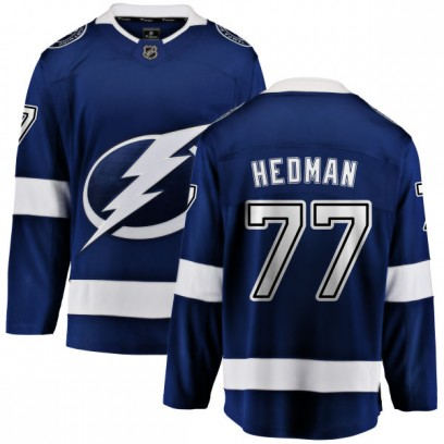 Youth Breakaway Tampa Bay Lightning Victor Hedman Fanatics Branded Home Jersey - Blue