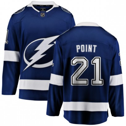 Youth Breakaway Tampa Bay Lightning Brayden Point Fanatics Branded Home Jersey - Blue