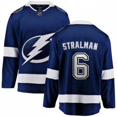 Youth Breakaway Tampa Bay Lightning Anton Stralman Fanatics Branded Home Jersey - Blue