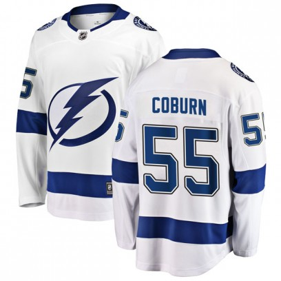Men's Breakaway Tampa Bay Lightning Braydon Coburn Fanatics Branded Away Jersey - White