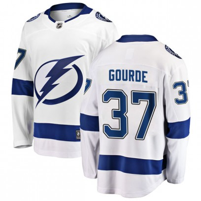 Men's Breakaway Tampa Bay Lightning Yanni Gourde Fanatics Branded Away Jersey - White