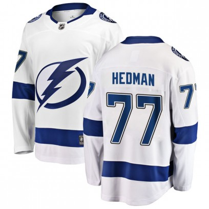 Men's Breakaway Tampa Bay Lightning Victor Hedman Fanatics Branded Away Jersey - White