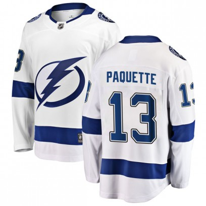 Men's Breakaway Tampa Bay Lightning Cedric Paquette Fanatics Branded Away Jersey - White