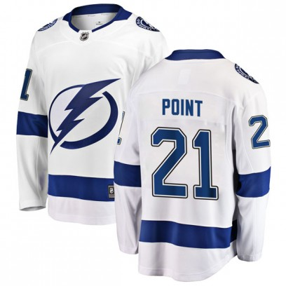 Men's Breakaway Tampa Bay Lightning Brayden Point Fanatics Branded Away Jersey - White
