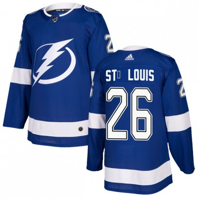 Men's Authentic Tampa Bay Lightning Martin St. Louis Adidas Home Jersey - Blue