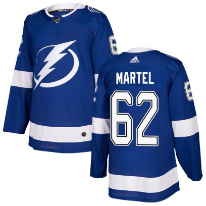 Youth Authentic Tampa Bay Lightning Danick Martel Adidas Home Jersey - Blue