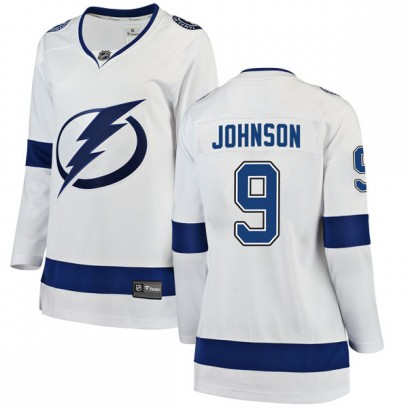 Women's Breakaway Tampa Bay Lightning Tyler Johnson Fanatics Branded Away Jersey - White