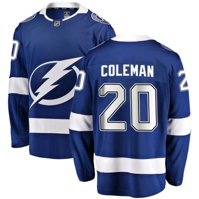Youth Breakaway Tampa Bay Lightning Blake Coleman Fanatics Branded Home Jersey - Blue