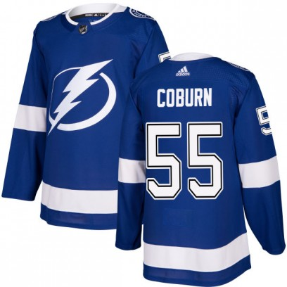 Men's Authentic Tampa Bay Lightning Braydon Coburn Adidas Jersey - Blue