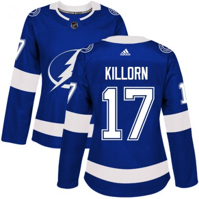 Women's Authentic Tampa Bay Lightning Alex Killorn Adidas Home Jersey - Royal Blue
