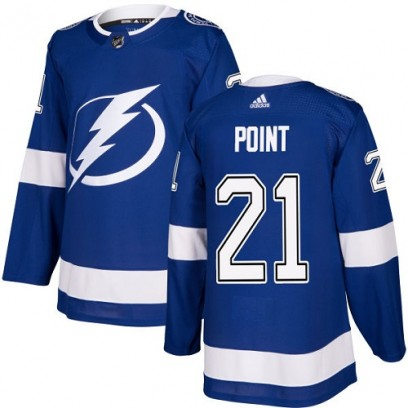 Youth Authentic Tampa Bay Lightning Brayden Point Adidas Home Jersey - Royal Blue