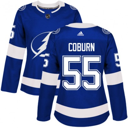 Women's Authentic Tampa Bay Lightning Braydon Coburn Adidas Home Jersey - Royal Blue